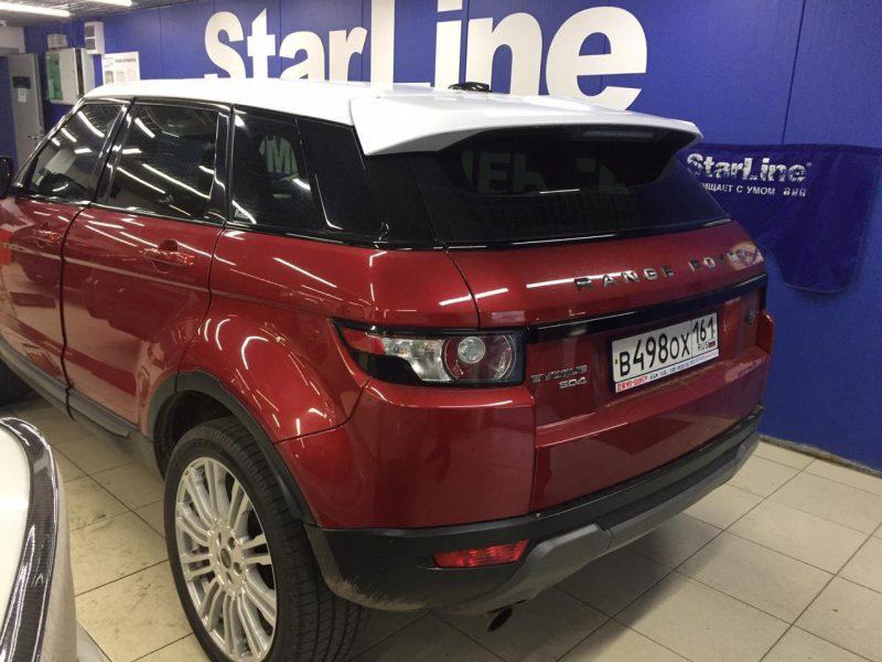 Range Rover Evoque — оклейка хромированных элементов черной глянцевой пленкой