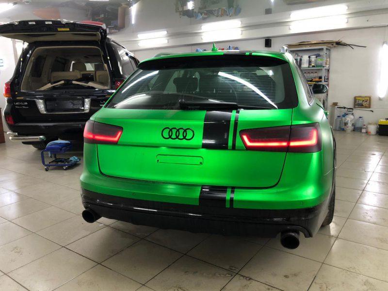 Audi A6 — оклейка кузова и тонировка фар автомобиля.