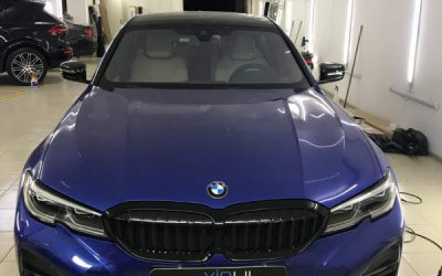 BMW 320 — выполнили целый комплекс работ, тонировка, оклейка и бронирование