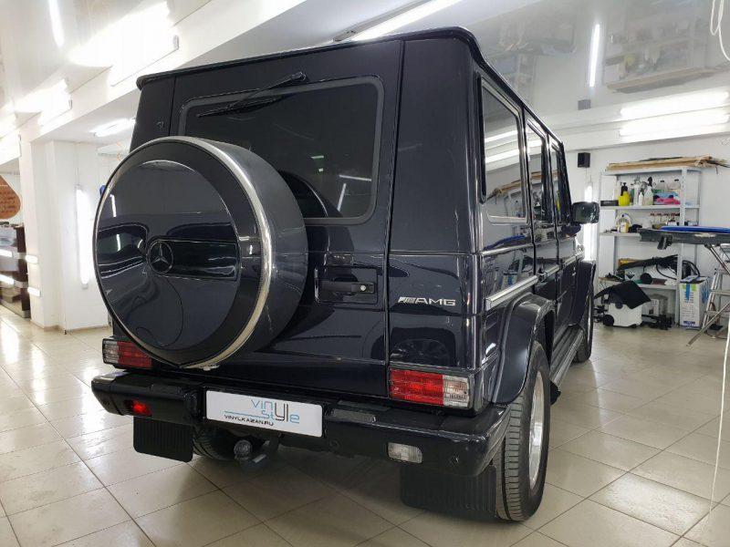 Mercedes-Benz G 55 AMG — детейлинг химчистка, обработка кварцевым составом кожаной поверхности