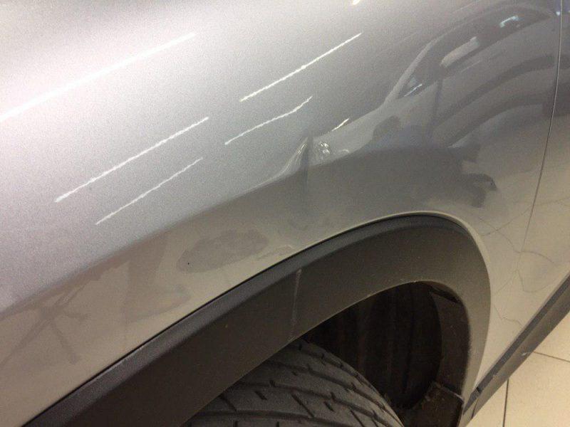Mazda CX5 — ремонт вмятины на крыле
