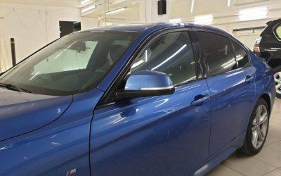 BMW 320 — тонировка передних боковых атермальной пленкой 20%