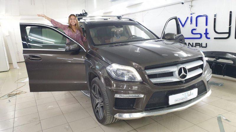 Тонировка задних и боковых стекол автомобиля Mercedes-Benz GLS пленкой UltraVision