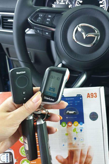 Mazda CX5 — сертифицированная установка StarLine A93 2Can 2Lin с автозапуском, тонировка стекол пленкой Shadow