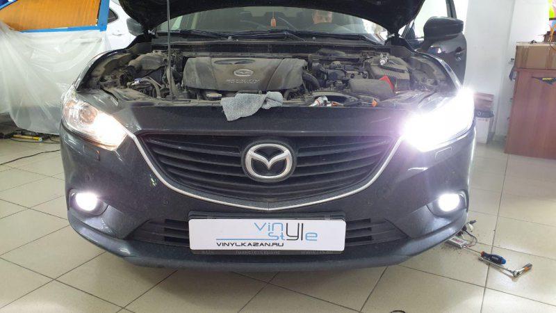 Mazda 6 — поменяли лампы ближнего и дальнего света, габаритки и противотуманки