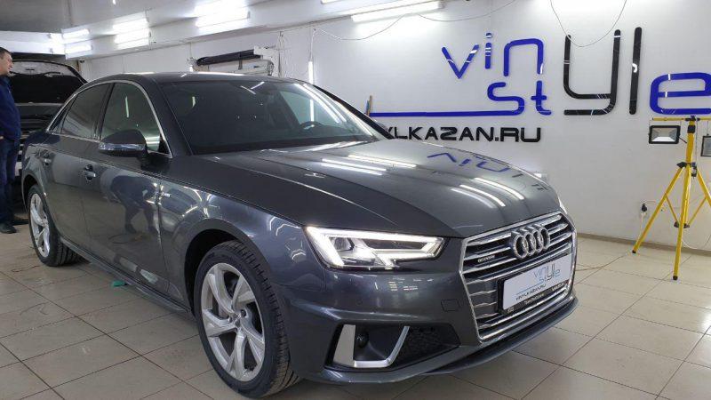 Audi A4 — затонировали переднюю полусферу атермальной пленкой Ultra Vision , заднюю полусферу пленкой llumar 95%