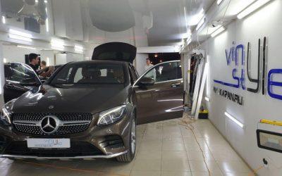 Mercedes GLK 250 — тонировка стекол пленкой LLUMAR 95%