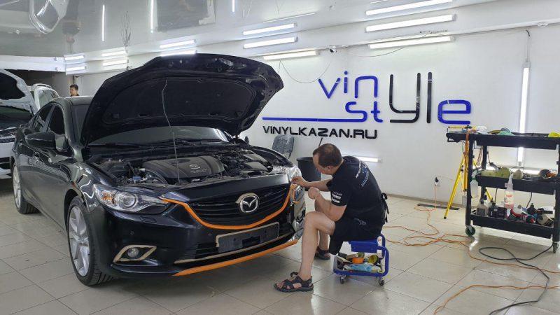 Локальная полировка бампера автомобиля Mazda 6