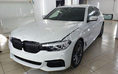 BMW 520D — бронирование полиуретановой пленкой Hexis Bodyfence