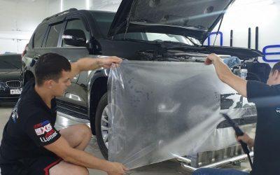 Toyota Land Cruiser Prado — бронирование полиуретановой пленкой Hexis