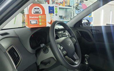 Hyundai Creta — установка автосигнализации Starline A93