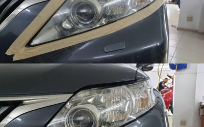 Lexus RX350 — полировка фар и замена штатных ксеноновых линз на диодные