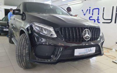 Mercedes GLE — замена решетки радиатора и установка защитной сетки