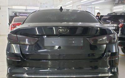 Покраска шильдиков автомобиля Kia Optima