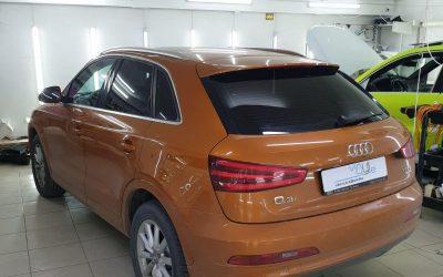 Audi Q3 — установка автосигнализации Starline A93, химчистка и тонировка стекол пленкой