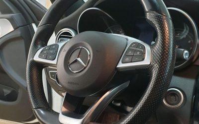 Mercedes C180 — восстановление систем безопасности, перешив торпеды и сиденья