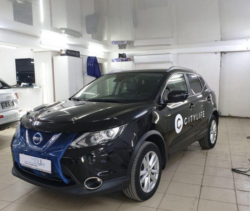 Nissan Qashqai  — оклейка авто рекламными наклейками