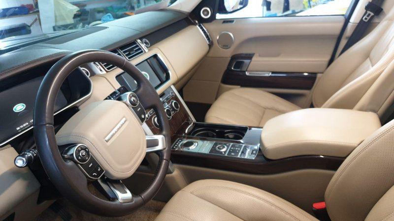 Range Rover Vogue — полная химчистка салона с багажником