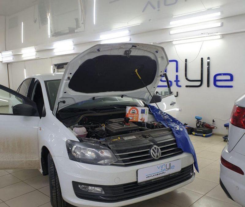 Установка охранного комплекса Starline A93 на автомобиль VW Polo