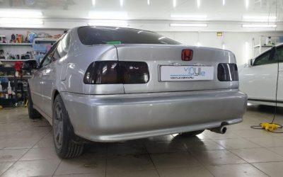 Honda Civic — бронирование передних фар, тонировка задней оптики