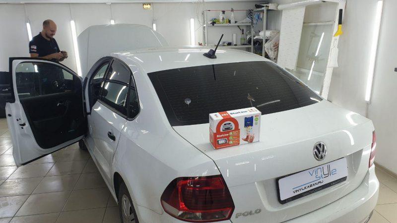 Volkswagen Polo — установка охранного комплекса Starline A93 2can+2lin с автозапуском и обратной связью!