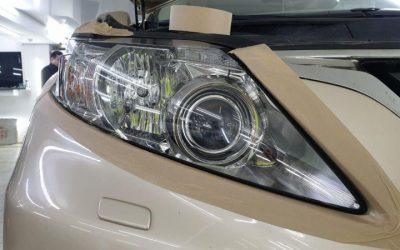Lexus RX350 — полировка фар авто, установка скрытой проводки, полировка кузова