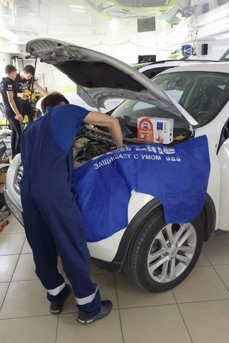 Nissan Juke — установка охранного комплекса Starline A93 2can+2lin с автозапуском и обратной связью