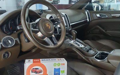 Porsche Cayenne — установка автосигнализации StarLine S96, полировка дверных стоек, молдингов, задних фонарей и лобового стекла
