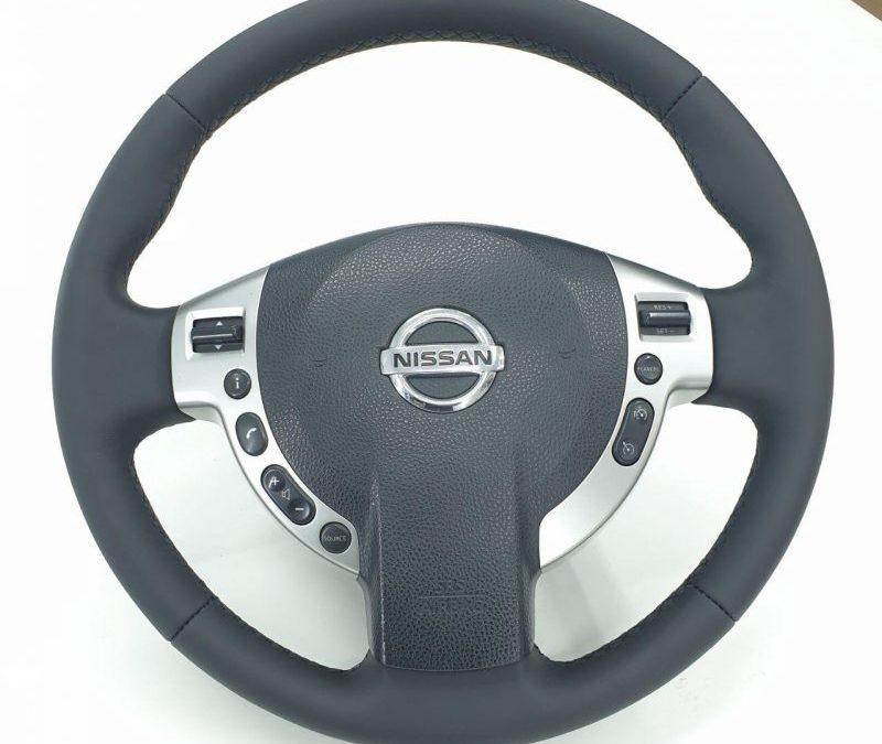 Перешив руля автомобиля Nissan QASHQAI кожей Nappa