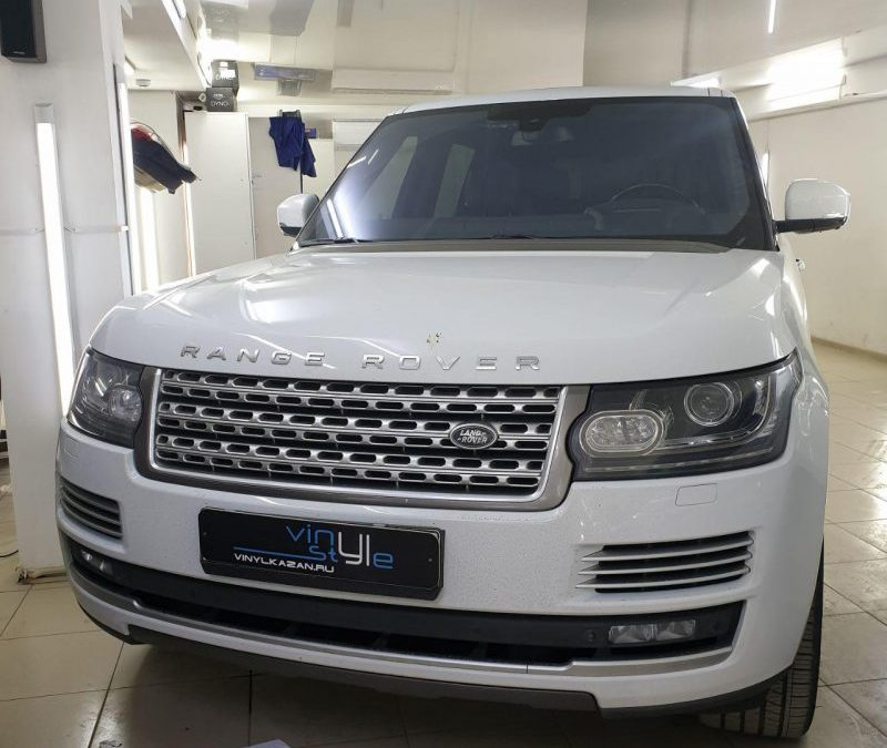 Range Rover — растонировка и тонировка передних боковых стёкол плёнкой UltraVision 65% затемнения