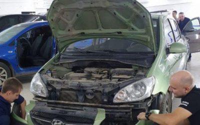 Hyundai Gets — установили противотуманные фары