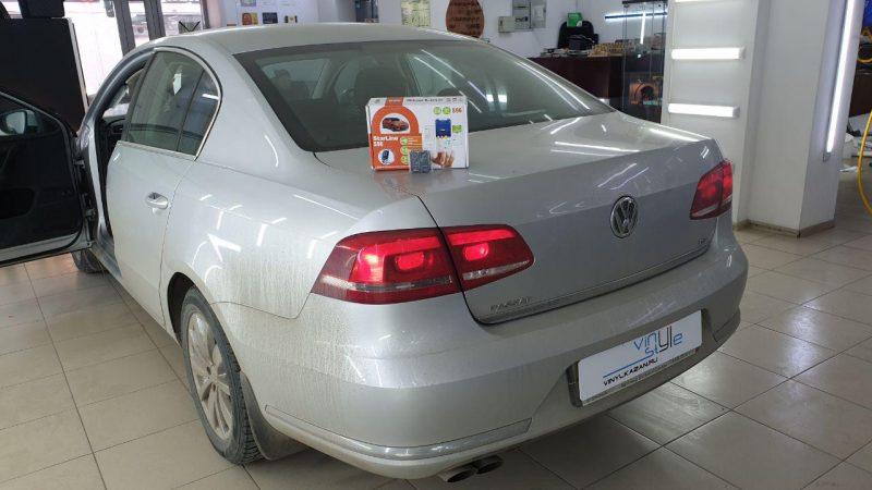 Очередная установка охранного комплекса Starline S96 с автозапуском и 2 метками в комплекте на Volkswagen Passat