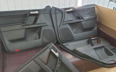 Land Cruiser Prado — перетяжка дверных вставок в кожу