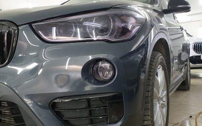 Тонировка фар и оптики автомобиля BMW X1