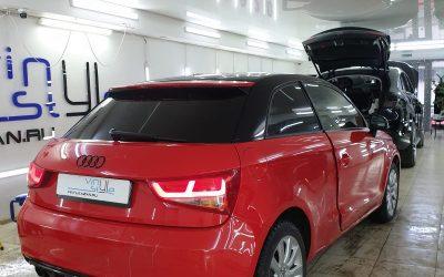 Audi A1 — затонировали стекла автомобиля пленкой Carbon