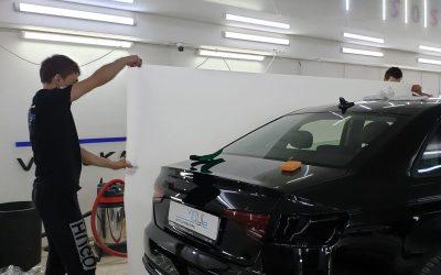 Audi A4 — бронирование кузова полиуретановой пленкой