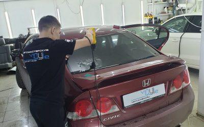 Honda Civic — тонировка всех боковых и заднего стекла 65% затемнения