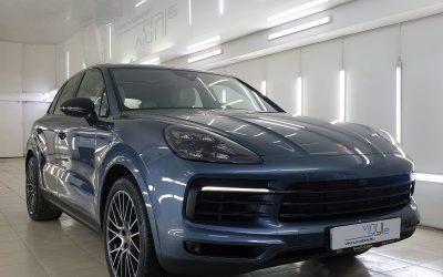 Porsche Cayenne — бронирование кузова полиуретановой пленкой премиум класса, защита кожаного салона кварцевым покрытием