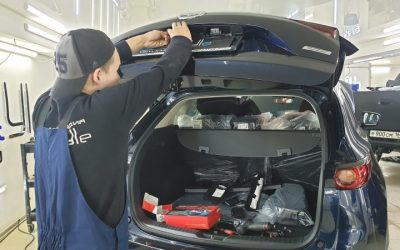 Mazda CX-5 — установка автосигнализации Starline A93, парктроников и камеры заднего вида