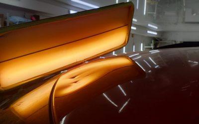 Skoda Fabia — ремонт сложных вмятин без покраски на кузове автомобиля