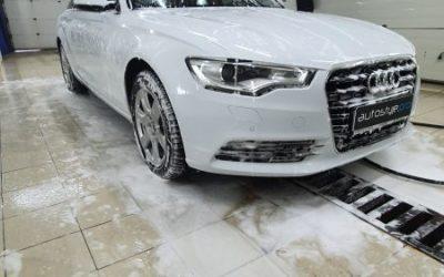 Химчистка сидений Audi A6 с обработкой кожи защитным составом