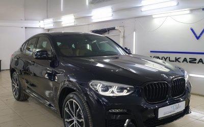 BMW X4 — бронирование кузова полиуретановой пленкой Premium класса, тонировка стекол атермальной пленкой