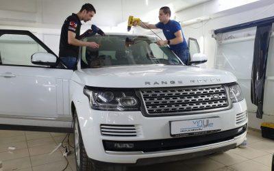 Бронирование лобового стекла  Range Rover Vogue
