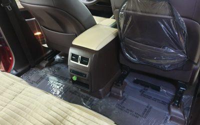 Химчистка сидений и пола Lexus RX300, обработка кожи защитным составом, оклейка ковролина пленкой