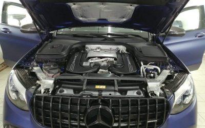 Mercedes AMG GLC 63S — 3-х фазная мойка автомобиля, обработка пластика, мойка днища, замена масла и масляного фильтра