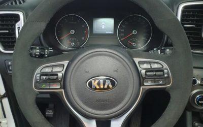 Перешив руля автомобиля Kia Sportage в алькантару