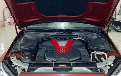 Mercedes AMG С43 — детейлинг мойка с химчисткой, нанесение воска на кузов, замена масла и фильтра