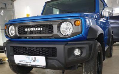 Suzuki Jimny — бронирование лобового, бронирование всего кузова полиуретаном, атермальная тонировка