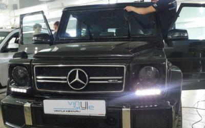 Mercedes AMG G63 — бронирование лобового стекла, фар автомобиля полиуретановой пленкой