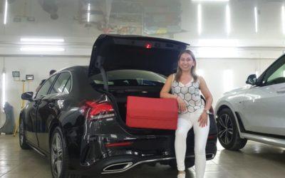 Изготовление сумки в багажник автомобиля Mercedes-Benz CLA